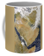 Dust And Smoke Over Iraq And The Middle Coffee Mug by Stocktrek Images
