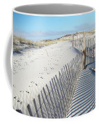 Fences Shadows And Sand Dunes Coffee Mug by Mother Nature