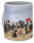 Figures On A Beach Coffee Mug by Eugene Louis Boudin