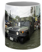 Filipino Citizens Stand In Line Coffee Mug by Stocktrek Images