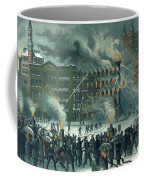 Fire In The New York World Building Coffee Mug by American School