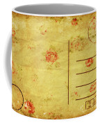 Floral Pattern On Old Postcard Coffee Mug by Setsiri Silapasuwanchai