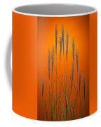 Fountain Grass In Orange Coffee Mug by Steve Gadomski