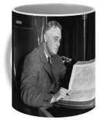 Franklin D. Roosevelt, 32nd American Coffee Mug by Photo Researchers