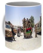 Free Libyan Army Troops Pose Coffee Mug by Andrew Chittock