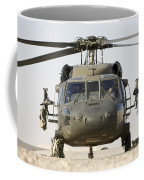 Front View Of A Uh-60l Black Hawk Coffee Mug by Terry Moore