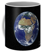 Full Earth Showing Africa And Europe Coffee Mug by Stocktrek Images