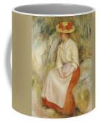 Gabrielle In A Straw Hat Coffee Mug by Pierre Auguste Renoir