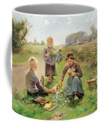 Gathering Flowers Coffee Mug by Joseph Julien