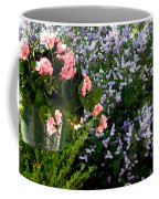Geranium And Lilac Painting Coffee Mug by Will Borden