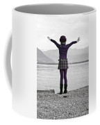 Girl On The Shores Of Lake Maggiore Coffee Mug by Joana Kruse