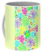 Graphic Flowers Coffee Mug by Louisa Knight