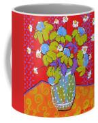 Green Daisy Bouquet Coffee Mug by Blenda Studio