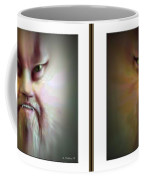 Halloween Self Portrait - Gently Cross Your Eyes And Focus On The Middle Image Coffee Mug by Brian Wallace