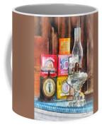 Hurricane Lamp And Scale Coffee Mug by Susan Savad