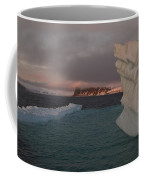 Ice Formations Float In Blue Water Coffee Mug by Norbert Rosing