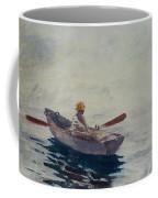 In A Boat Coffee Mug by Winslow Homer