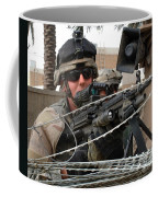 Iraqi And U.s. Soldiers Patrol The Al Coffee Mug by Stocktrek Images