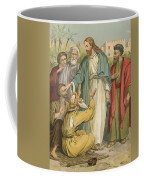 Jesus And The Blind Men Coffee Mug by English School