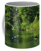 Kayakers Paddle In The Headwaters Coffee Mug by Raymond Gehman