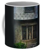 Lady By Window Of Tudor Mansion Coffee Mug by Jill Battaglia
