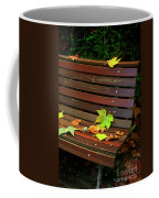 Leafs In Bench Coffee Mug by Carlos Caetano