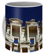 Library Of Celsus In Ephesus Coffee Mug by Sally Weigand