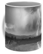 Lightning Striking Longs Peak Foothills 6bw Coffee Mug by James BO  Insogna