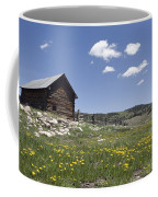 Log Cabin On The High Country Ranch Coffee Mug by Rich Reid