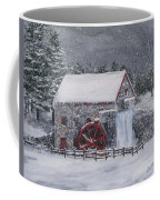 Longfellow's Grist Mill In Winter Coffee Mug by Jack Skinner