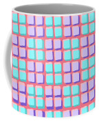 Lots Of Squares Coffee Mug by Louisa Knight