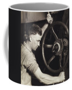 Making Auto Tires Coffee Mug by LW Hine