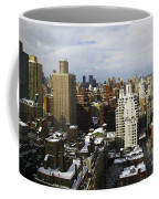 Manhattan View On A Winter Day Coffee Mug by Madeline Ellis