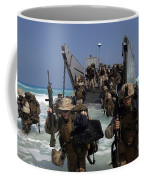 Marines Disembark A Landing Craft Coffee Mug by Stocktrek Images