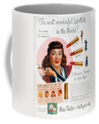 Max Factor Lipstick Ad Coffee Mug by Granger