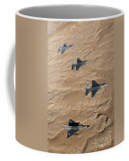 Military Fighter Jets Fly In Formation Coffee Mug by Stocktrek Images