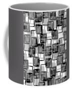 Monochrome Squares Coffee Mug by Louisa Knight