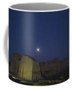 Moon Over Medinet Habu, The Temple Coffee Mug by Kenneth Garrett