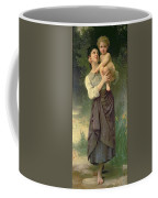 Mother And Child Coffee Mug by William Adolphe Bouguereau