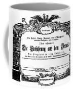 Mozart: Seraglio, 1782 Coffee Mug by Granger