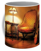 Music - String - The Chair And The Lute Coffee Mug by Mike Savad