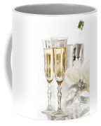 New Year Champagne Coffee Mug by Amanda Elwell