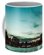 New Yorks Skyline At Night Ice 1 Coffee Mug by Hannes Cmarits