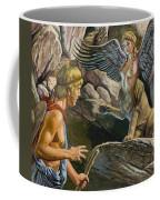 Oedipus Encountering The Sphinx Coffee Mug by Roger Payne