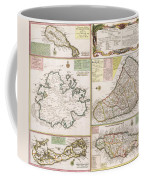 Old Map Of English Colonies In The Caribbean Coffee Mug by German School
