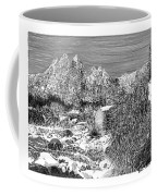 Organ Mountain Wintertime Coffee Mug by Jack Pumphrey