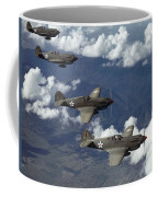 P-40 Pursuits Of The U.s. Army Air Coffee Mug by Luis Marden