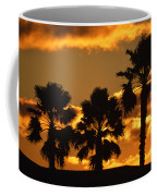 Palm Trees In Sunrise Coffee Mug by Susanne Van Hulst
