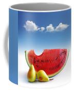 Pears And Melon Coffee Mug by Carlos Caetano
