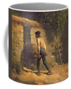 Peasant With A Wheelbarrow Coffee Mug by Jean-Francois Millet